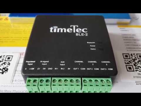 TimeTec Security BLE-2 Bluetooth Controller (IoT) & TimeTec Security Mobile App