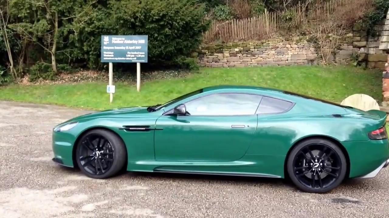 Aston Martin Dbs Racing Green Passenger Ride Youtube