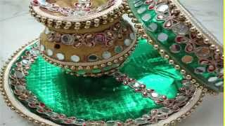 Decorate karvachauth Vrat Thali, Karva And Chalni