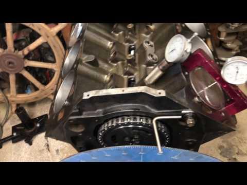 502 engine build, cam install/Degree