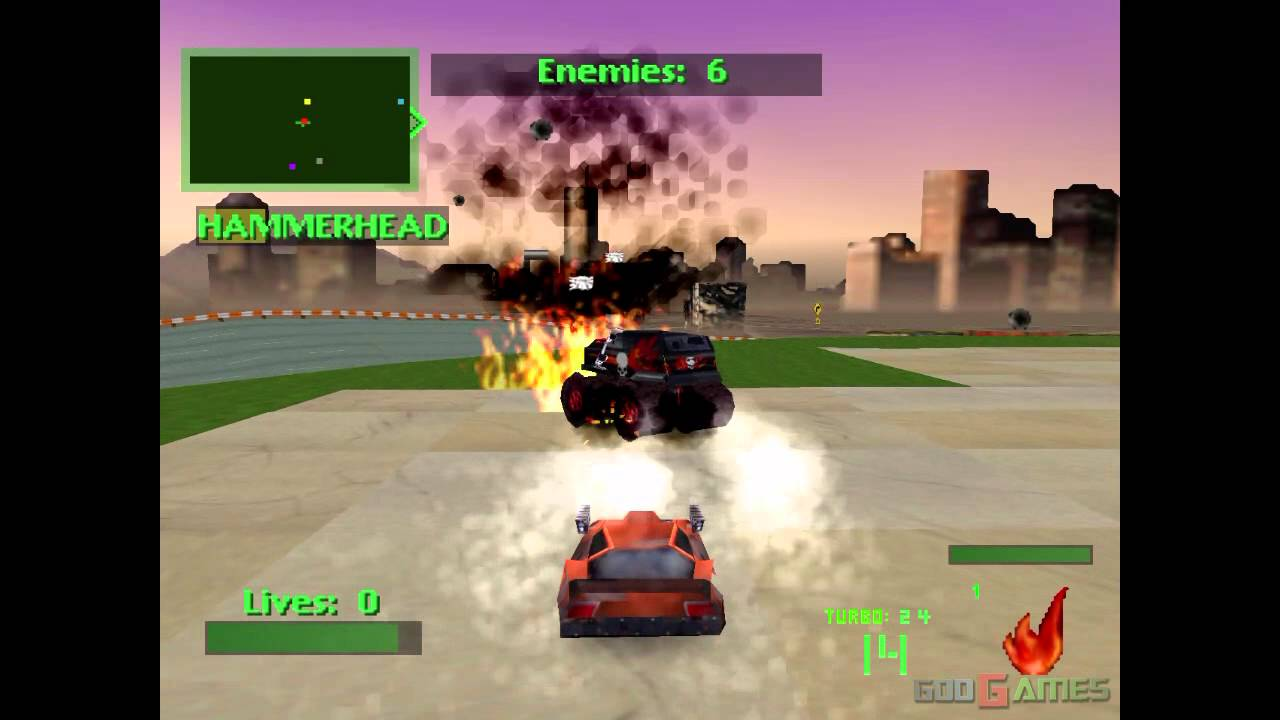 Twisted Metal 2 - Gameplay PSX (PS One) HD 720P (Playstation classics)