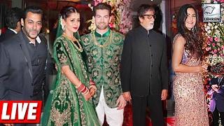 Repeat youtube video Neil Nitin Mukesh Star-Studded Wedding Reception | Katrina Kaif, Salman Khan, Amitabh Bachchan