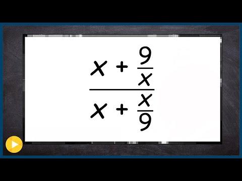 Simplify a complex fraction thumbnail