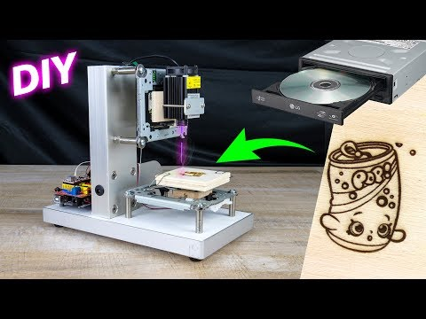 HOW to make CNC LASER engraver DIY from DVD drive