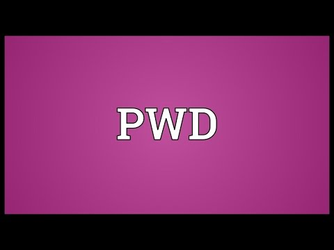 PWD Meaning