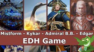Mistform vs Kykar vs Admiral Beckett vs Edgar Markov EDH / CMDR game play