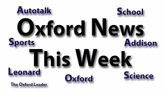 Oxford News This Week: 10-29-18