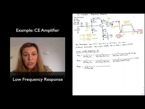 Example: CE Amplifier Low Frequency Response