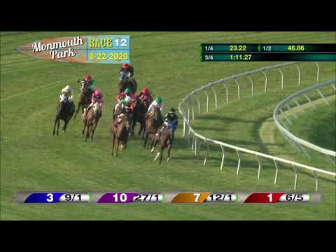 video thumbnail for MONMOUTH PARK 08-22-20 RACE 12