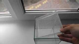 Как сделать сетку на дно аквариума в котором будут метать икру рыбки