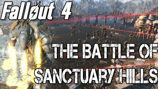 SUPER MUTANTS ATTACK SANCTUARY BASE!! | Fallout 4 Battle of Sanctuary Hills [Battlefield DeathMatch]