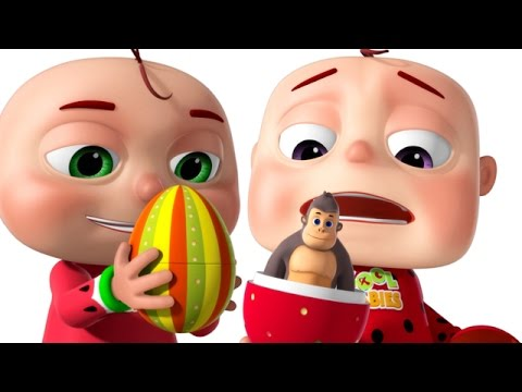 Five Little Babies Opening The Eggs | Five Little Babies Collection | Zool Babies Fun Rhymes