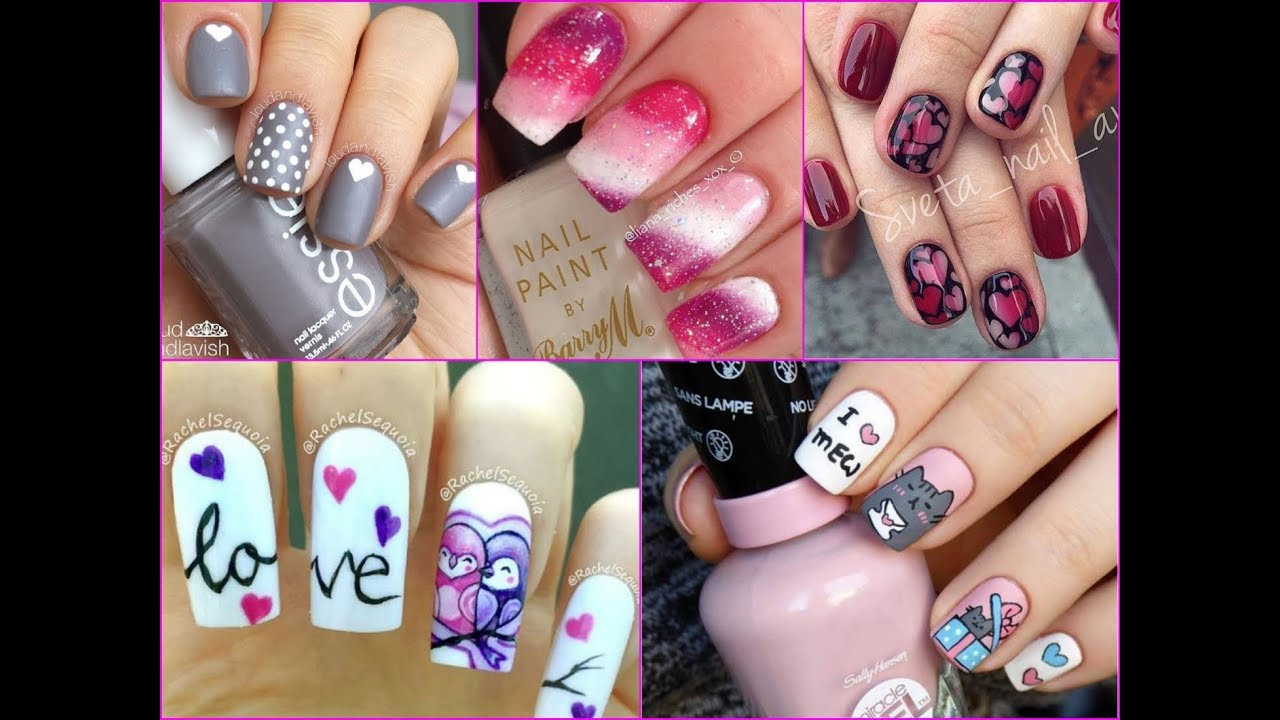 50 Pretty Nail Art Designs For Valentine S Day 2018 Youtube