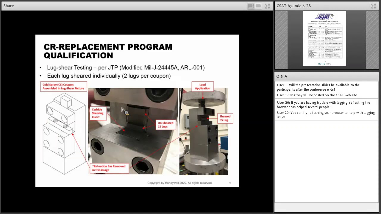 Eric Przybylowicz, Honeywell: Chrome Replacement Repair Development using HPCS at Honeywell R&O