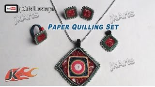 DIY Paper Quilling Jewelry Set |  How to make | JK Arts 382