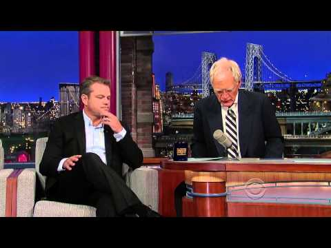 Matt Damon on David Letterman - July 31 2013 - Full Interview