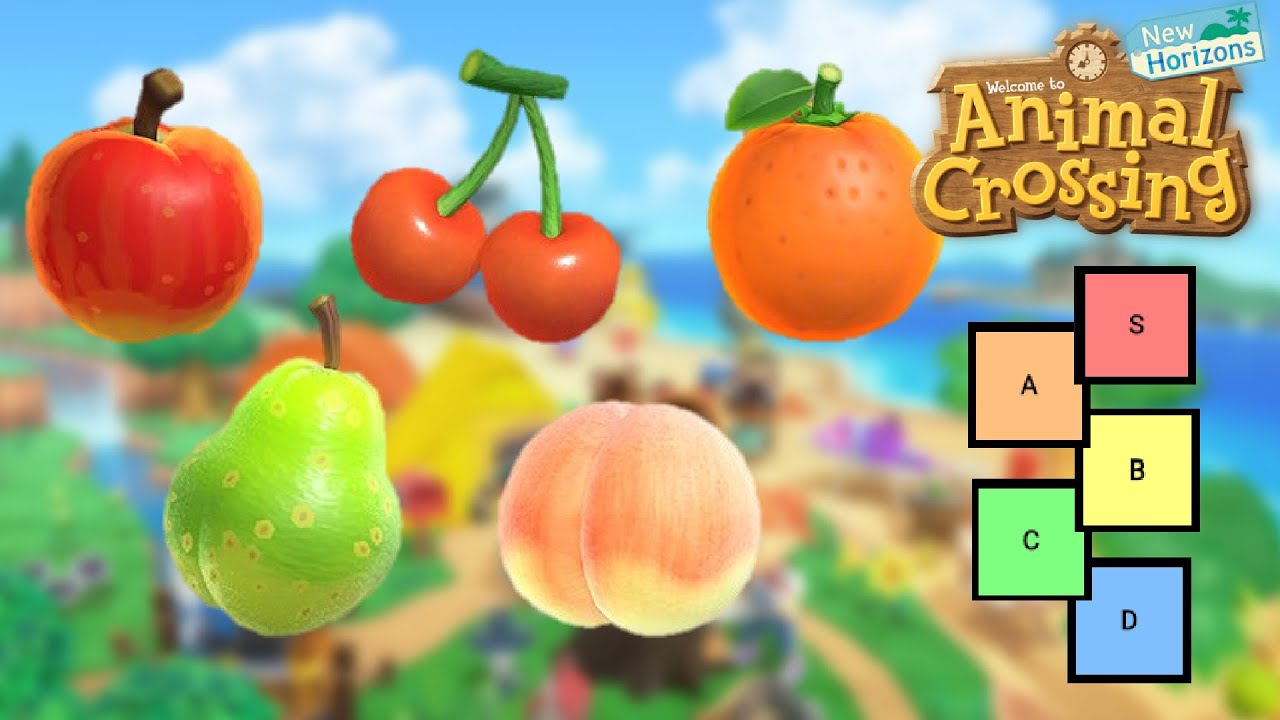 Animal Crossing New Horizons Fruit Tier List Youtube