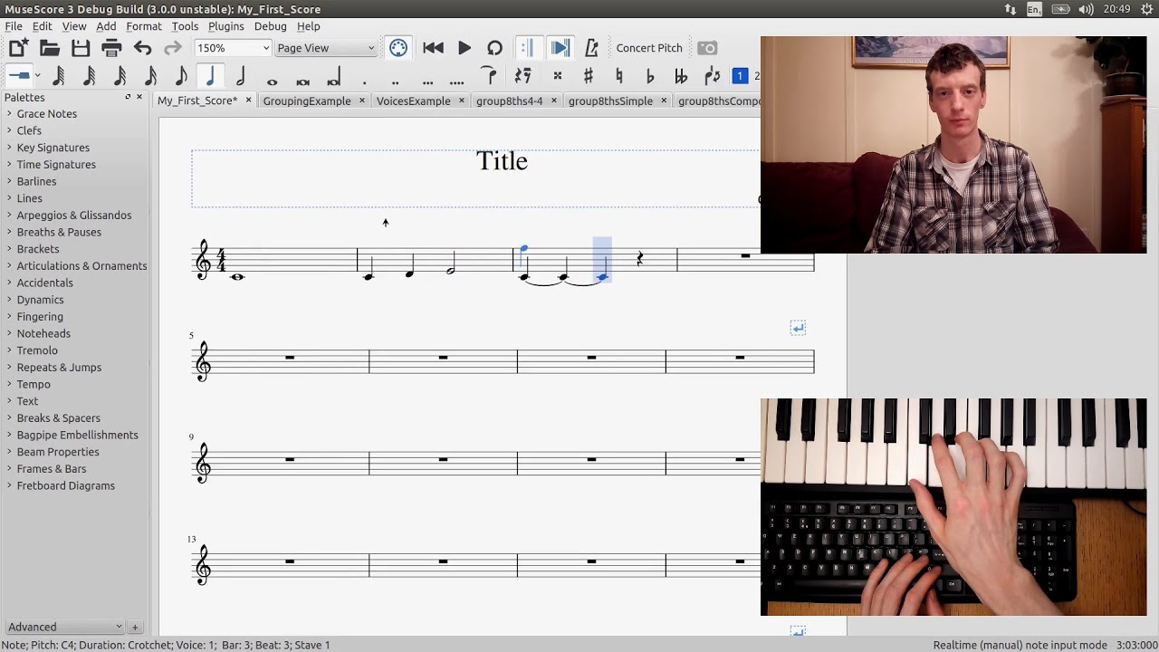 GSoC with MuseScore - Semi-Realtime MIDI Demo Part 1: New note entry modes