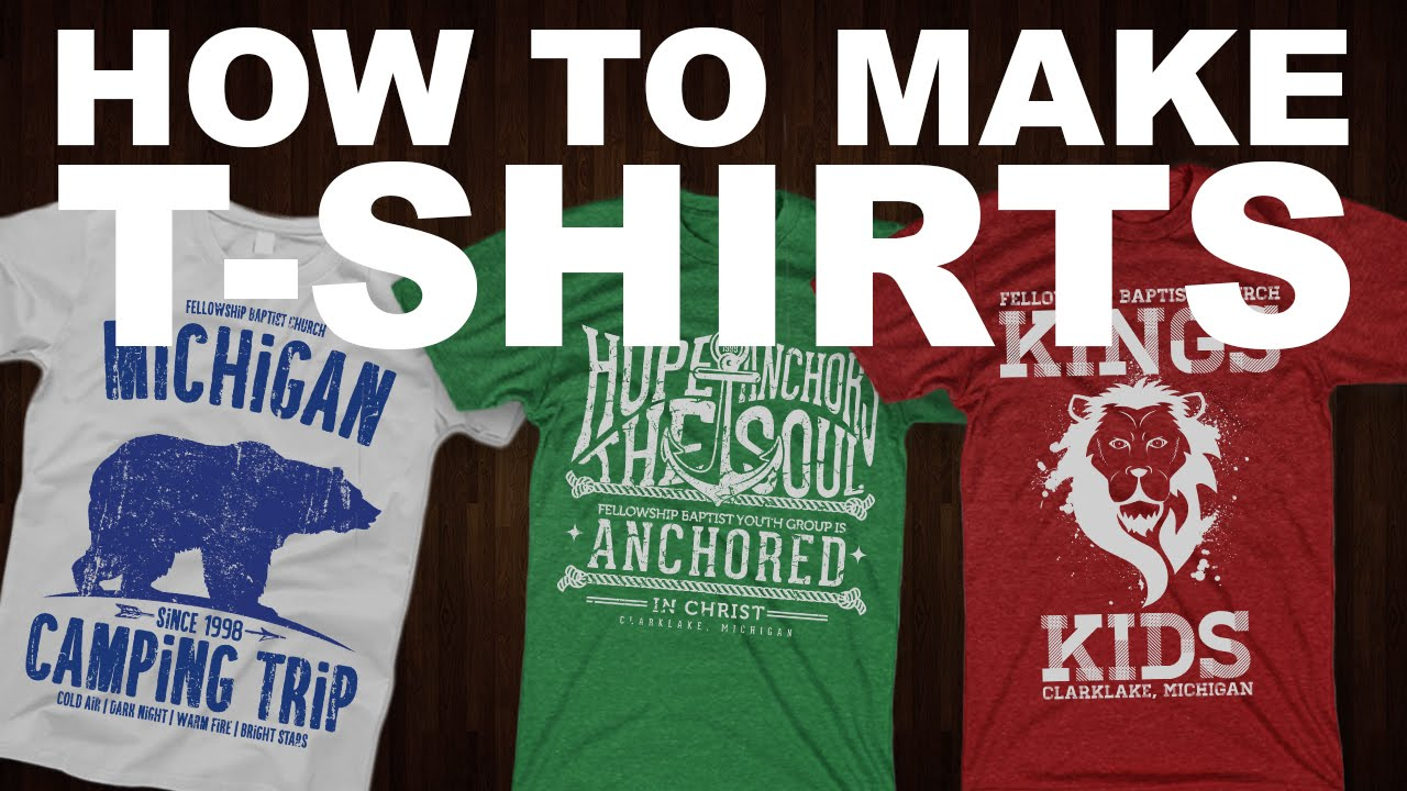 How to make your own t shirt tutorial youtube for How to print your own shirt