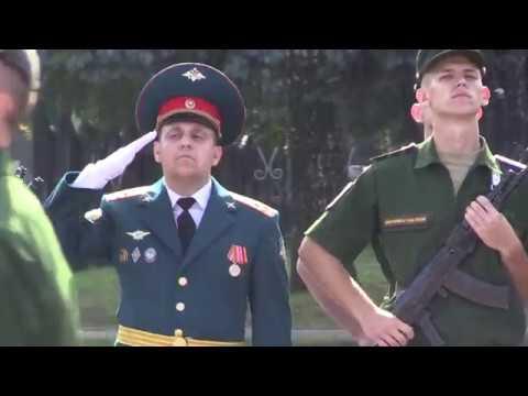Принятие воинской присяги курсантами Московского высшего общевойскового командного училища
