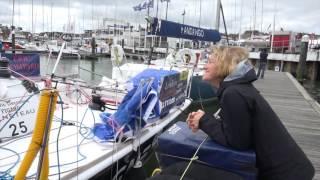 Aymeric à Cowes après la rupture du mât
