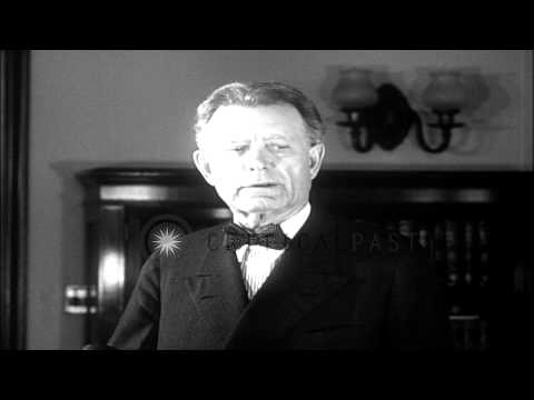 Senator William Edgar Borah  in a conference in Washington DC. HD Stock Footage