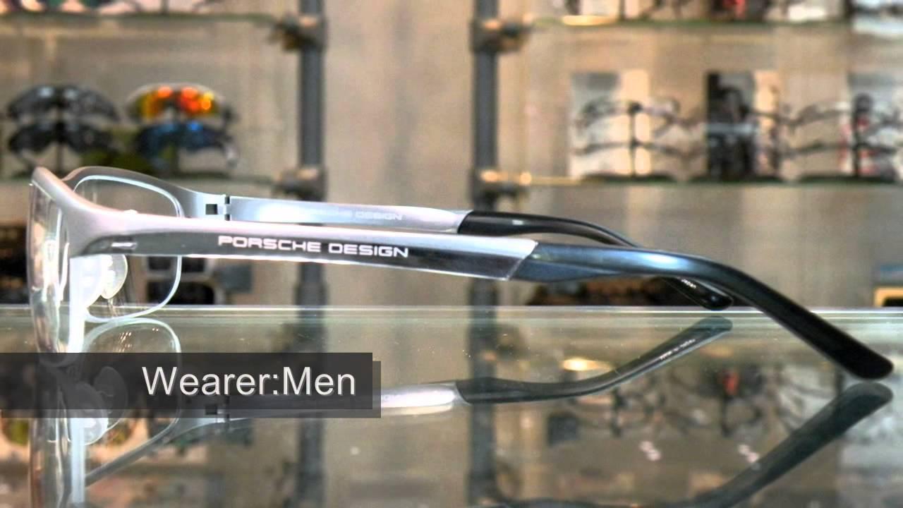 Porsche Design P8182 Titanium Semi Rimless Eyewear - YouTube