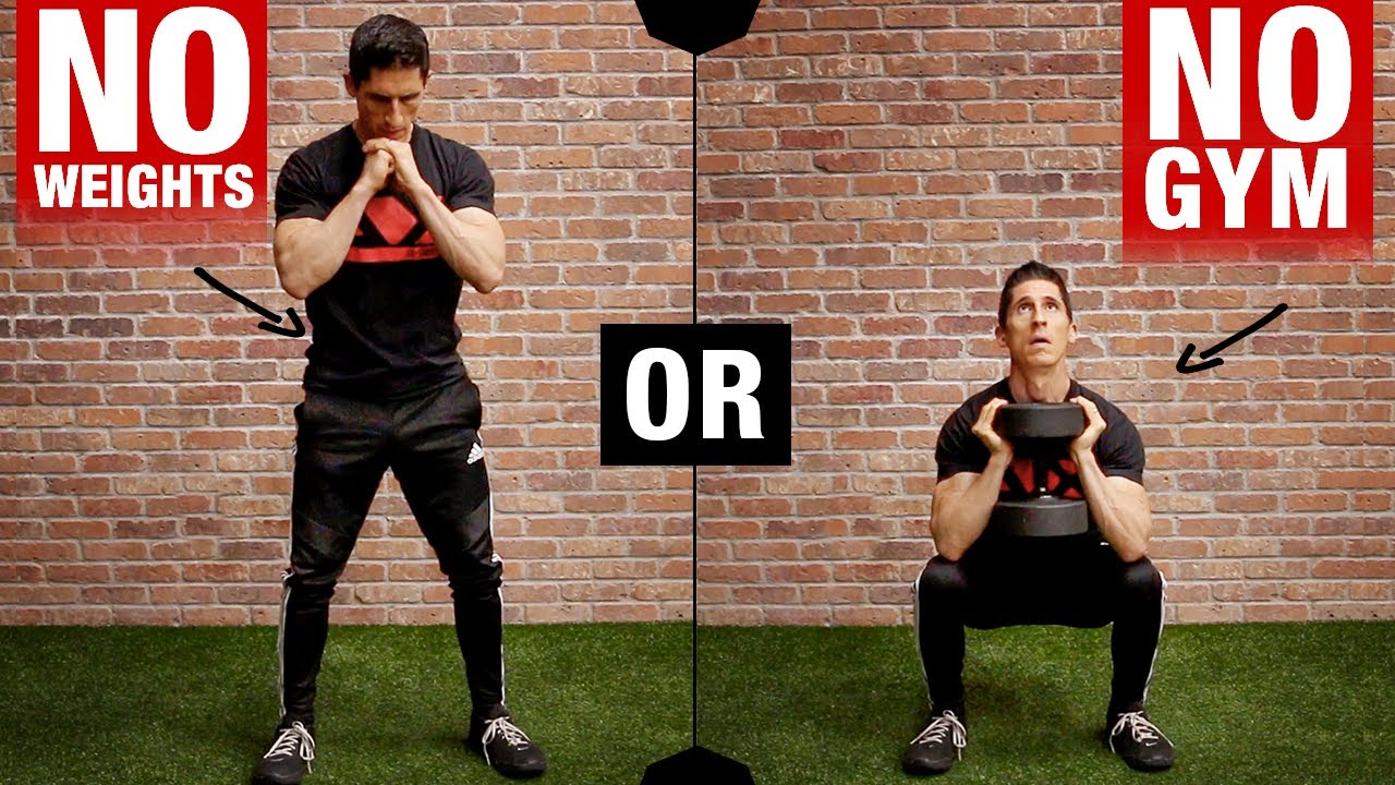 Killer Home Leg Workout (BODYWEIGHT or DB!)