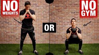 Killer Home Leg Workout (BODYWEIGHT or DB!)