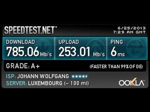 Speedtest Net World Record For Germany 785mbit And 486mbit