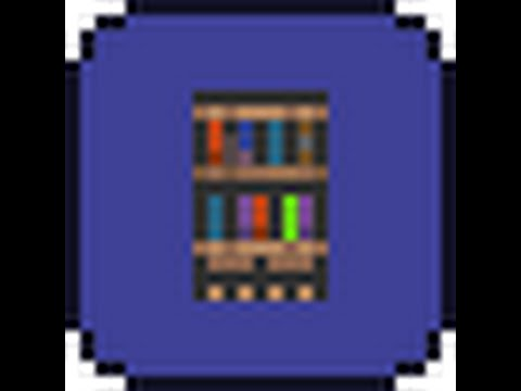 how to make a bookcase in terraria