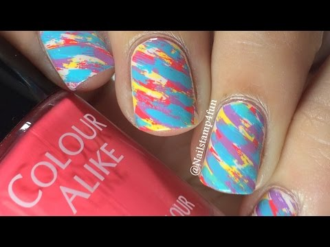 colorful-brush-strokes-nail-stamping-with-bunny-nails-buna-c-plate