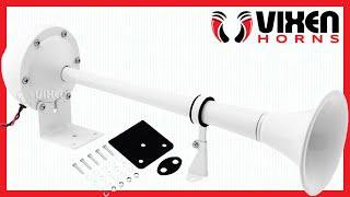 📢 VIXEN HORNS VXH1112MAR-W Marine Electric Train Horn 🔥