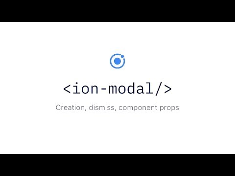 Ionic Components: Modals - YouTube