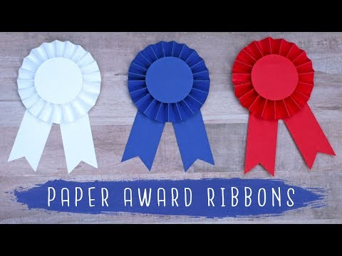 Paper Award Ribbon Rosette Tutorial