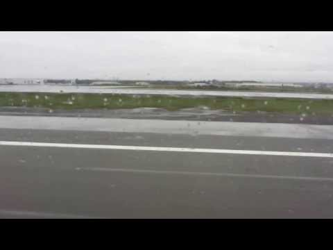Departure from Anchorage International Airport on a rainy day (Alaska)