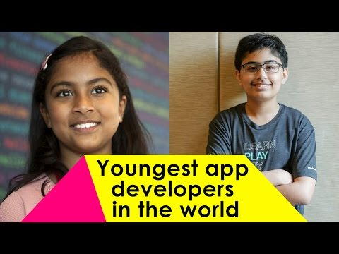 Youngest app developers in the world : Tanmay Bakshi & Anvitha Vijay