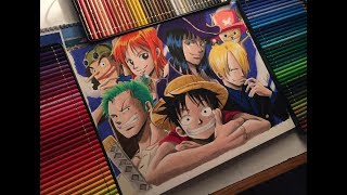 Drawing ONE PIECE - StrawHat Pirates before timeskip