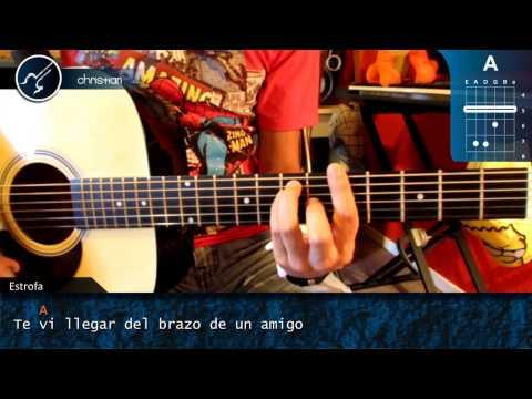 """Cómo tocar """"Loco Tu Forma de Ser"""" de Los Auténticos Decadentes en Guitarra (HD) - Christianvib"""