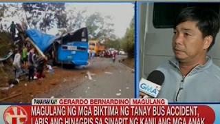 Magulang ng mga biktima ng Tanay bus accident, labis ang hinagpis sa sinapit ng kanilang mga anak