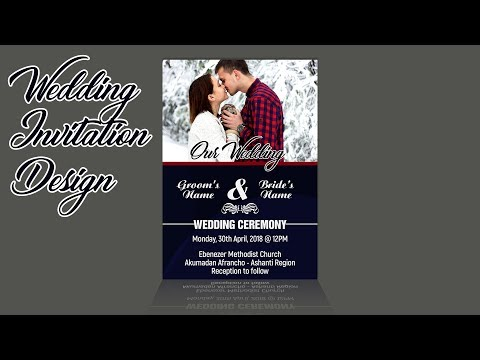 How To Design A Simple Yet Cute and Professional Wedding Invitation Card | Photoshop Tutorial