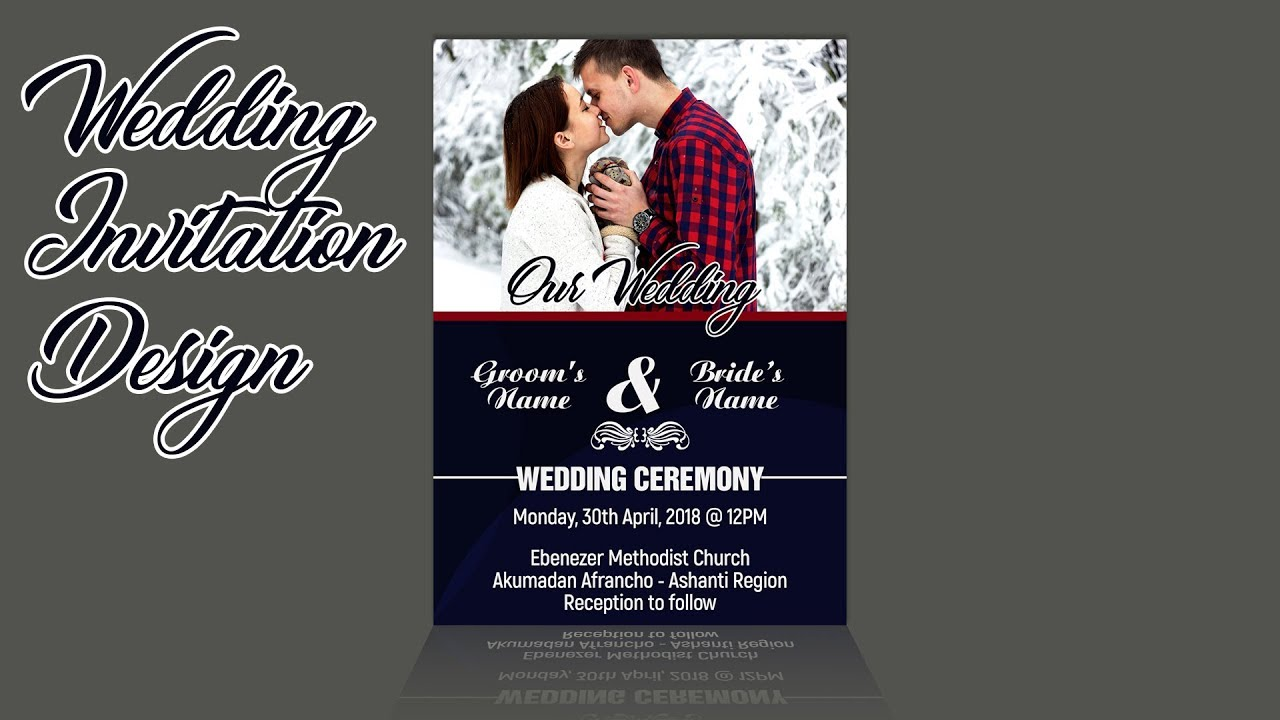 How To Design A Simple Yet Cute And Professional Wedding Invitation Card Photoshop Tutorial