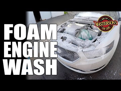 How To Foam Wash Your Engine! - Masterson's Car Care Auto Detailing Tips & Tricks