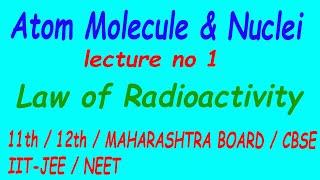 Atom Molecule & Nuclei lecture 1