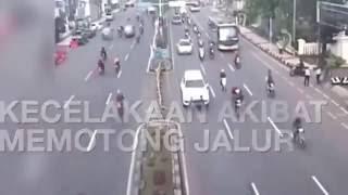 Detik detik kecelakaan beruntun di Bogor