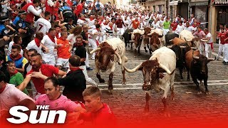 Pamplona Bull Run 2019: tumbles, turns and injuries