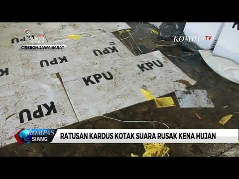 Ratusan Kardus Kotak Suara di Cirebon Rusak Kena Hujan Mp3