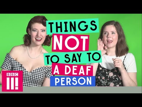 What it like dating a deaf person could hear
