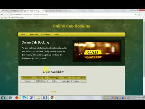 Online Cab Booking System Java Project - YouTube