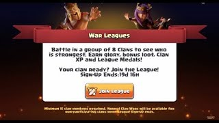 CLAN WAR LEAGUE STARTED || JOIN MY CLAN AND PLAY WITH ME ||